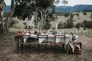 NSW Blue Mountains wedding venue rustic styling