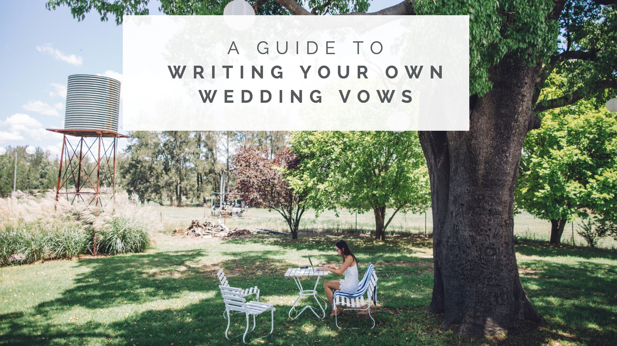 how to write your own wedding vows
