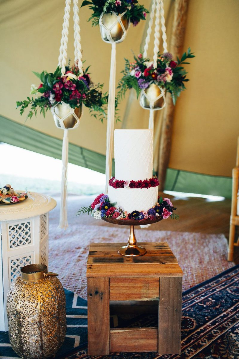 bohemian wedding styling tipi