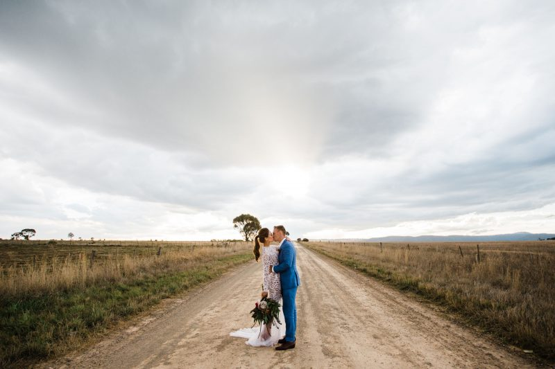 Bride and groom wedding photography at wedding venue, Camp Sunnystones